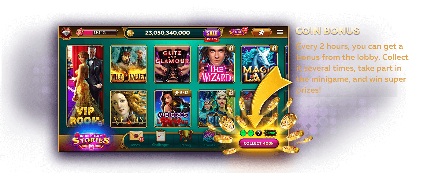 Collect Coin Bonus Every 2 Hours