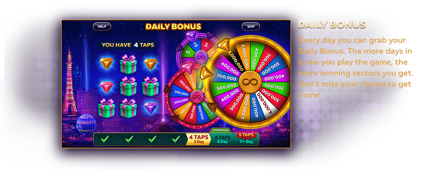 Collect Daily Bonus Free Slots