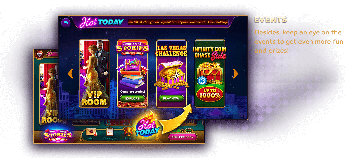 Lots of Events and Jackpot Rewards